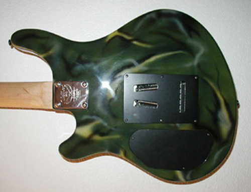 Green Camo Guitar Back